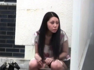 Japanese slut urinating