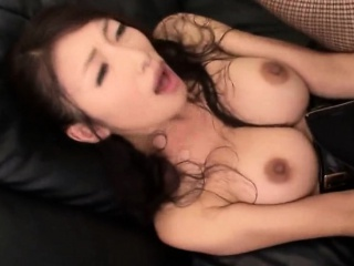 Japanese Pantyhose beauty with big tits gets a cumshot