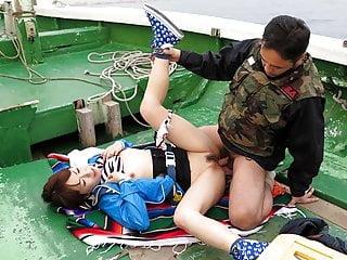 Japanese teen, Nonoka Kaede got fucked in the boat, uncensor
