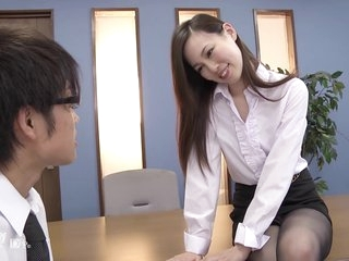 Misaki Yoshimura facesitting - japan jav uncensored stockings nylon heels pale office lady OL