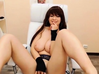 Busty Japanese Teen with big tits masturbating