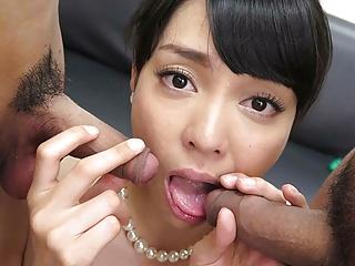 Japanese secretary Kisa Azumane likes mmf, uncensored