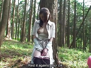 Subtitled Uncensored Japanese milf Mana Funaki in Forest HD