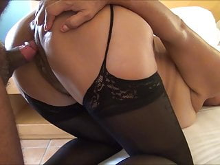 LYNN FUCKS WITH BLACK STOCKINGS POV