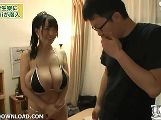 Asian with giant tits posing