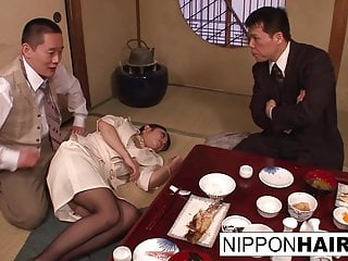 Business dinner meeting turns scandalous when a threeway