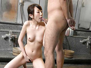 Cock suck that turns into a hot bathroom fuck