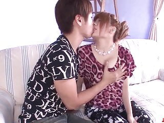 Wife Junna Hara leaves young lad - More at javHD.net